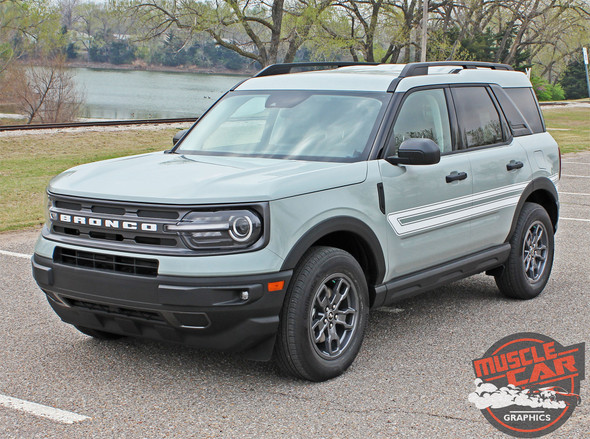 2021-up Bronco Sport Revive Explorer Retro Side Decal Graphics Vinyl Stripes