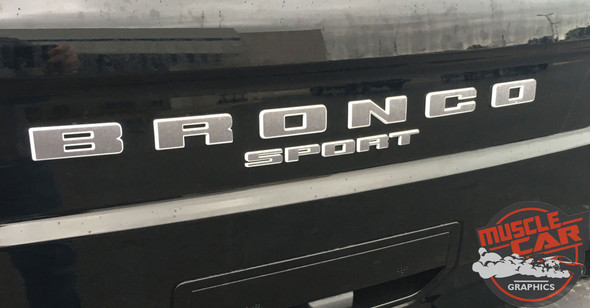2021 2022 Ford Bronco Sport LETTER DECALS Front Grill and Rear Gate Name Text Decals Stripes Vinyl Graphics
