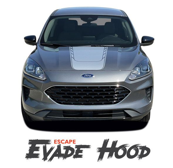 Ford Escape EVADE Center Hood Vinyl Graphics Decal Stripe Kit for 2020 2021
