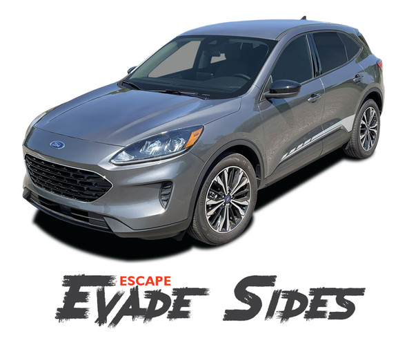 Ford Escape EVADE SIDES Lower Body Line Vinyl Graphics Decal Stripe Kit for 2020 2021