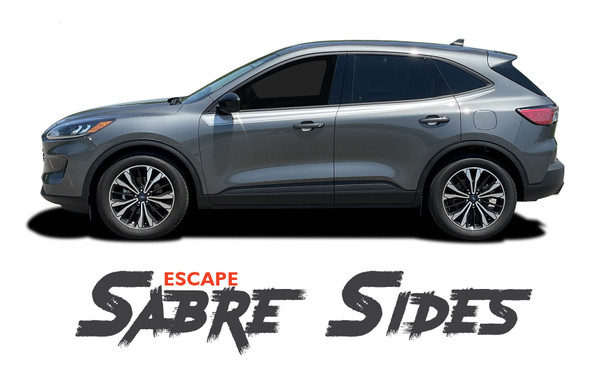 Ford Escape SABRE SIDES Lower Body Line Vinyl Graphics Decal Stripe Kit for 2020 2021