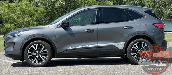 Side View of 2021 Ford Escape Side Door Stripes EVADE SIDE 2020-2021