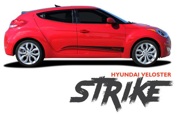 Hyundai Veloster STRIKE Vinyl Graphic Stripes Decal Kit for 2011 2012 2013 2014 2015 2016 2017 2018