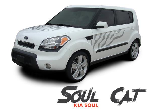 Kia Soul Hood Side Door Cat Paw Vinyl Graphics SOUL CAT Decal Stripe Kit 2010-2013