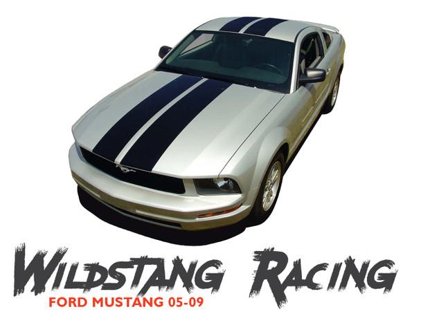 Ford Mustang WILDSTANG Hood Roof Trunk Vinyl Racing Stripes Kit 2005 2006 2007 2008 2009