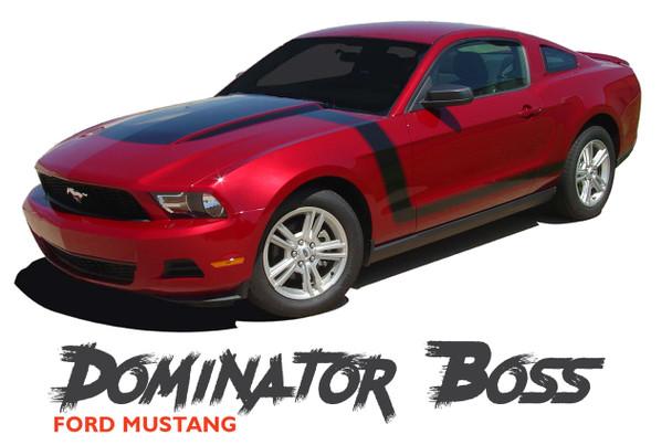 Ford Mustang DOMINATOR BOSS Hood Decals Hockey Stripes Side Body Door Vinyl Graphics Kit 2010 2011 2012 Models