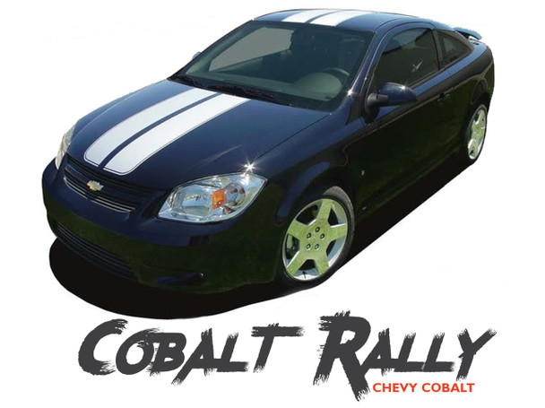 Chevy Cobalt RALLY Racing Stripe Rally Hood Trunk Kit for 2005 2006 2007 2008 2009 2010 Models