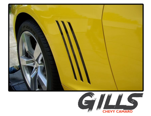 Chevy Camaro GILL STRIPES Vinyl Graphic Vent Striping Accent Decals Kit for 2010 2011 2012 2013 2014 2015 for All Models