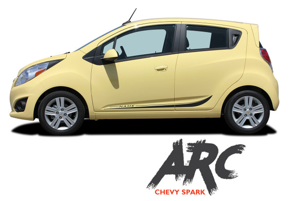 Chevy Spark ARC Lower Rocker Panel Vinyl Graphics Stripe Decal Kit 2013 2014 2015 2016