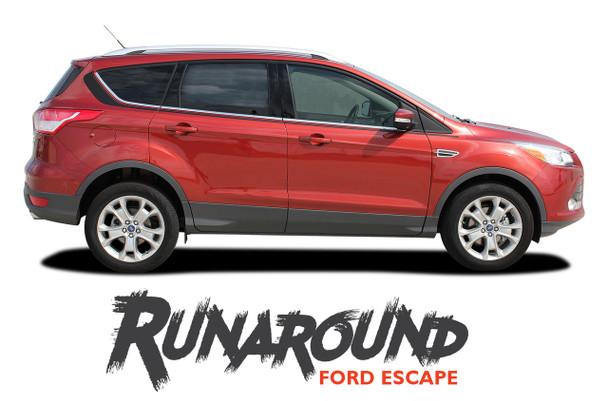 Ford Escape RUNAROUND Upper Body Line Vinyl Graphics Decal Stripe Kit for 2013 2014 2015 2016 2017 2018 2019