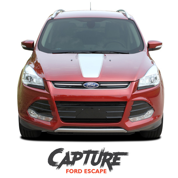 Ford Escape CAPTURE Center Hood Vinyl Graphics Decal Stripe Kit for 2013 2014 2015 2016 2017 2018 2019