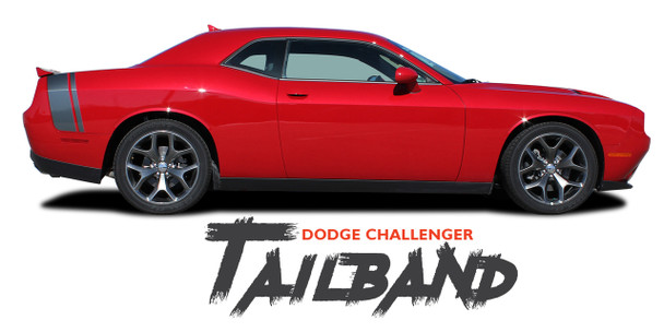 Dodge Challenger TAILBAND Scat Pack Rear Quarter Panel Trunk Vinyl Graphic Rally Stripes 2011 2012 2013 2014 2015 2016 2017 2018 2019 2020 2021
