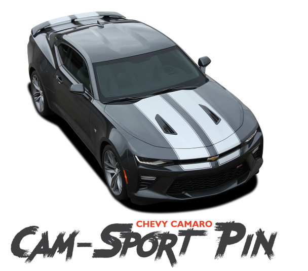 Chevy Camaro CAM-SPORT PIN Factory OE Style Rally Racing Stripes with Pin Outline Vinyl Graphics Kit 2016 2017 2018