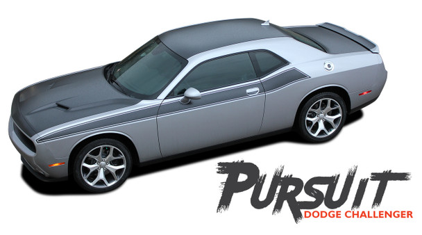 Dodge Challenger PURSUIT Wide Door Vinyl Graphics Side Body T/A 392 Stripes Decals 2011 2012 2013 2014 2015 2016 2017 2018 2019 2020 2021