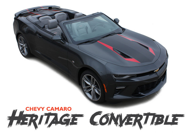 Chevy Camaro HERITAGE CONVERTIBLE 50th Anniversary Indy 500 Hood Vinyl Graphic Racing Stripes Rally Decals Kit 2016 2017 2018