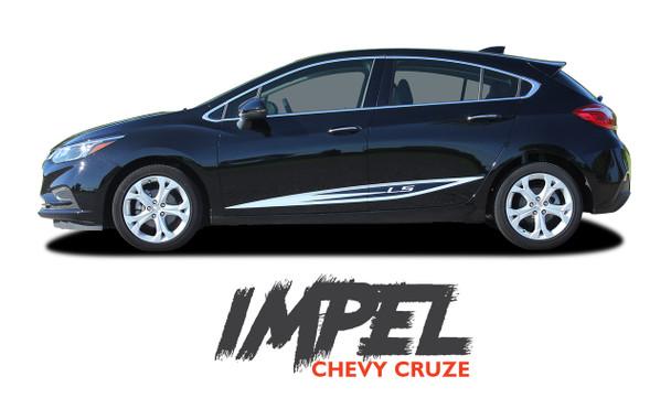 Chevy Cruze IMPEL Rocker Stripes Door Vinyl Graphics Decal Kit for 2016 2017 2018 2019