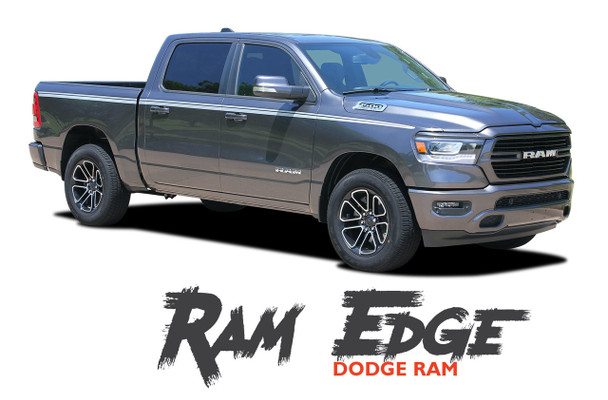 Dodge Ram EDGE Body Side Decals Door Accent Stripes Vinyl Graphics Kit 2019 2020 2021 Models