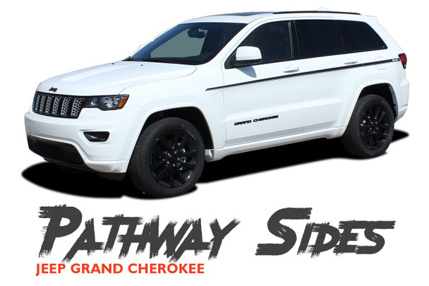 Jeep Grand Cherokee Upper Body Line Accent PATHWAY SIDES Vinyl Graphics Decal Stripe Kit 2011-2019 2020 2021