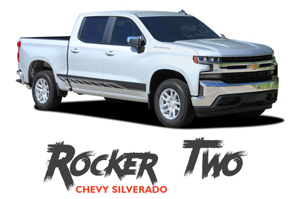 Chevy Silverado Stripes ROCKER TWO Lower Door Decals Rocker Panel Vinyl Graphic Kit fits 2019 2020 2021