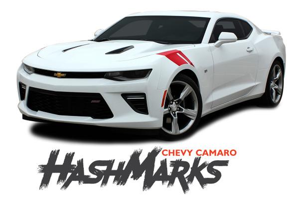 Chevy Camaro HASHMARKS Hood Fender Stripes Hash Slash Vinyl Graphic Decals Stripes 2019 2020