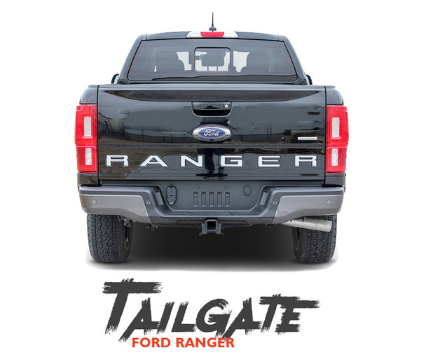 2019 Ford Ranger Tailgate Letters Inlay Decals Stripes TAILGATE TEXT Vinyl Graphics Kit 2019 2020 2021
