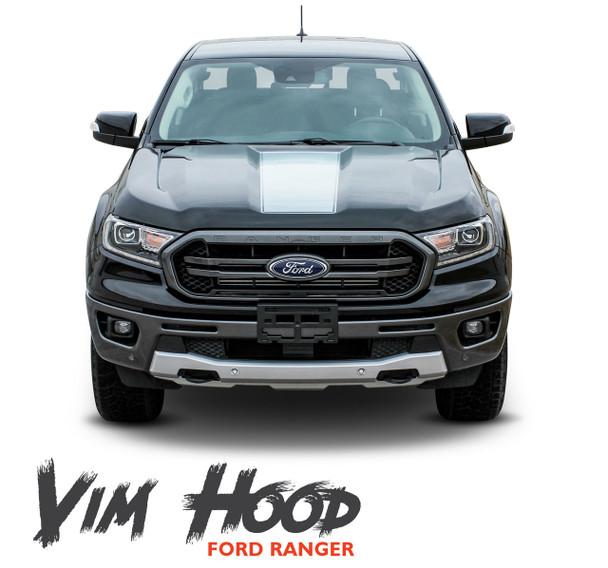 2019 Ford Ranger Center Hood Decals VIM HOOD Stripes Vinyl Graphics Kit 2019 2020 2021