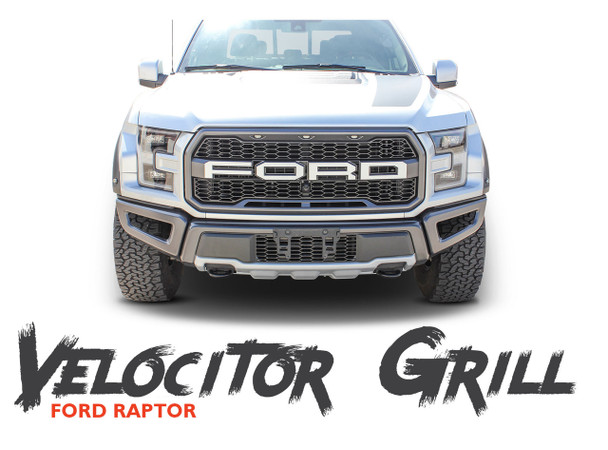 Ford Raptor Grill Decals VELOCITOR GRILL Letter Text Decals Vinyl Graphics Kit 2018 2019 2020