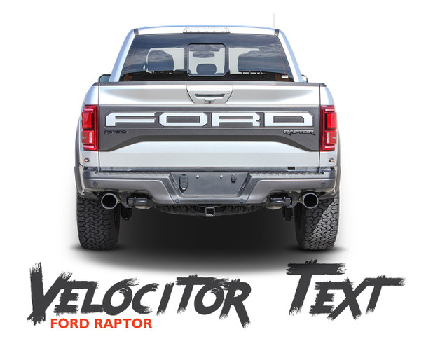 Ford Raptor Tailgate Decals VELOCITOR TAILGATE Letter Text Decals Vinyl Graphics Kit 2018 2019 2020