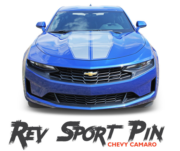 2019 2020 Chevy Camaro Racing Stripes REV SPORT PIN Hood Decals and Trunk Vinyl Graphics Kit