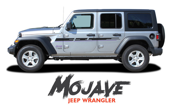 Jeep Wrangler MOJAVE Hood Graphic and Side Door Decals Stripes Kit for 2018-2020 2021 Models