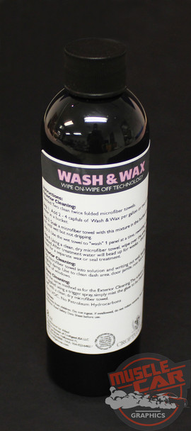 WRAP CARE WASH AND WAX | Vinyl Clean Painted Automotive Surfaces (8 oz) by Croftgate