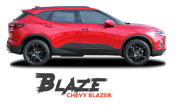 Chevy Blazer BLAZE Lower Rocker Door Panel Body Vinyl Graphics Decals Stripes Kit 2019 2020 2021