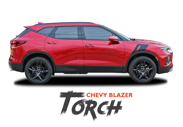Chevy Blazer TORCH Side Fender Hood Vinyl Graphics Decals Stripes Kit 2019 2020 2021