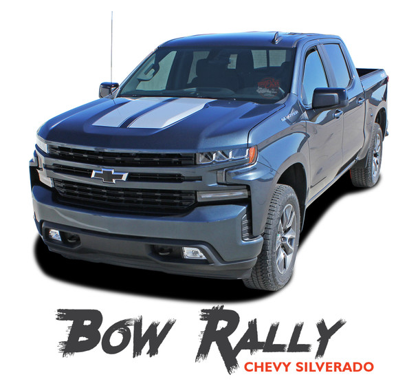 Chevy Silverado Racing Stripes Hood Decals Vinyl Graphic Kit fits 2019 2020 (MCG-6881)