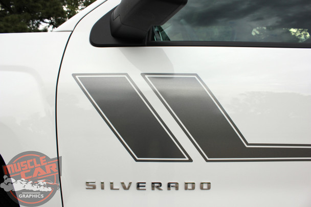 2018 Chevy Silverado Bed Side Stripes TRACK XL 2013-2016 2017 2018