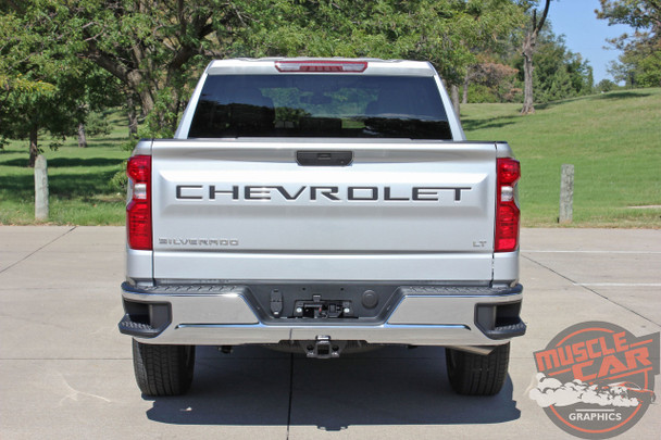 2019 2020 2021 Chevy Silverado Tailgate Letters Name Insert Decals