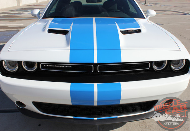 View of 2016 Dodge Challenger RT Decals WING RALLY 2015-2020 2021