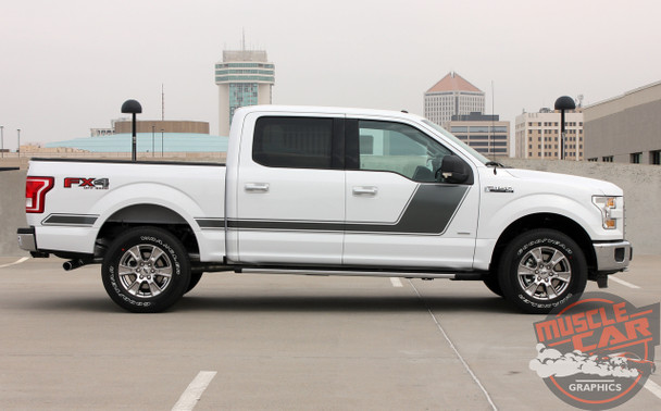Profile of White 2018 Ford F 150 Graphics Package 15 FORCE 2 2009-2020