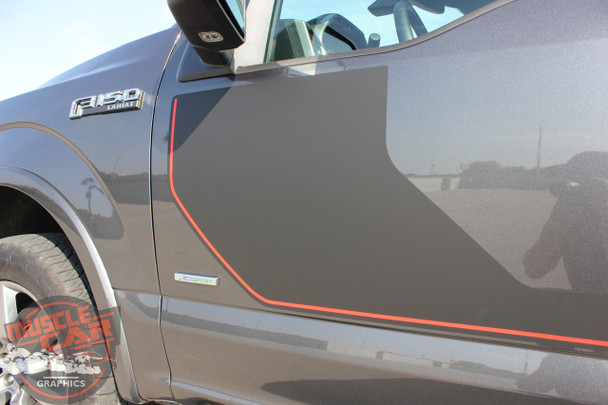 Close side view of 2019 F150 Side Graphics SIDELINE 2015-2018 2019 2020
