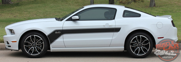 Profile 2013-2014 Ford Mustang Hood and Side Decals Stripes FLIGHT