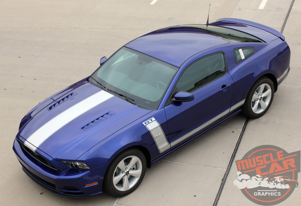 Front angle for 2014 Ford Mustang Hood Side Decals PRIME 2 2013-2014