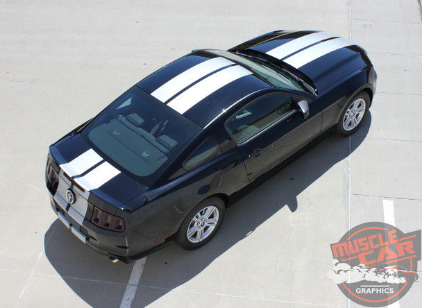 Top Side View of 2014 Ford Mustang Graphic Kits THUNDER 2013-2014