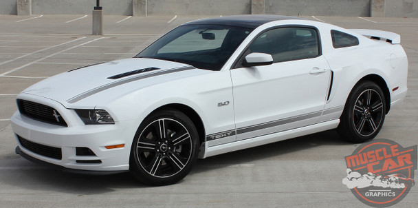 Side view of CALI EDITION | California Mustang GT Ford Stripe Graphics 2013-2014 Digital Print Vinyl