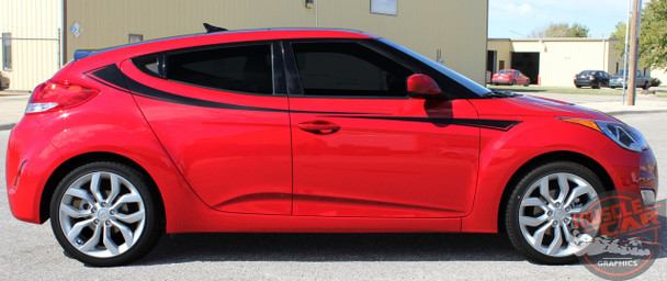 Profile View of Hyundai Veloster Side Door Stripes RELAY 2011-2017 2018