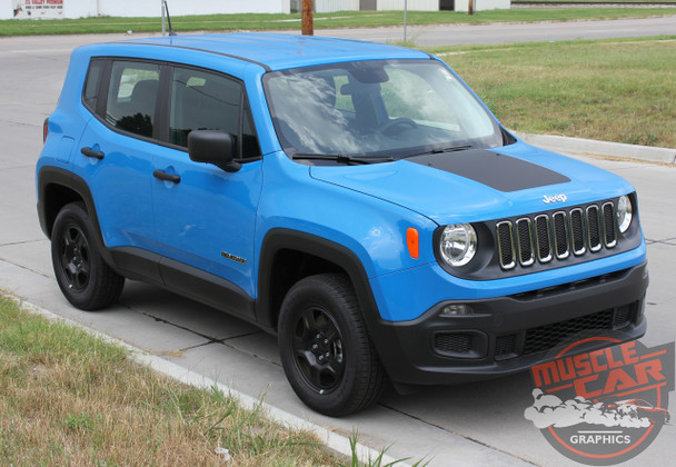 Side View of 2019 Jeep Renegade Decals RENEGADE HOOD 2014-2020 2021