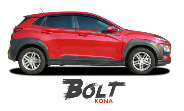 Hyundai Kona BOLT Vinyl Graphic Stripes Decal Kit for 2018 2019 2020 2021
