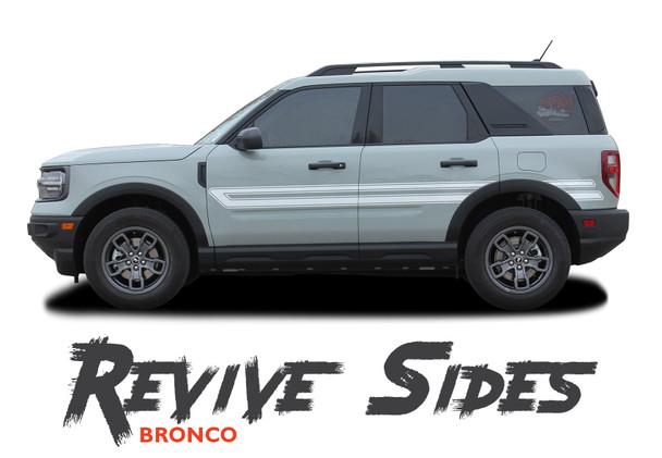 2021 2022 Ford Bronco Sport Side Door Decals REVIVE Stripes Vinyl Graphics Kit