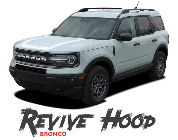 2021 2022 Ford Bronco Sport Hood Decals REVIVE HOOD Stripes Vinyl Graphics Kit