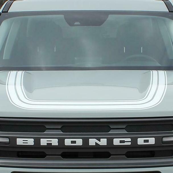 2021-up Bronco Sport Revive Explorer Retro Hood Decal Graphics Vinyl Stripes