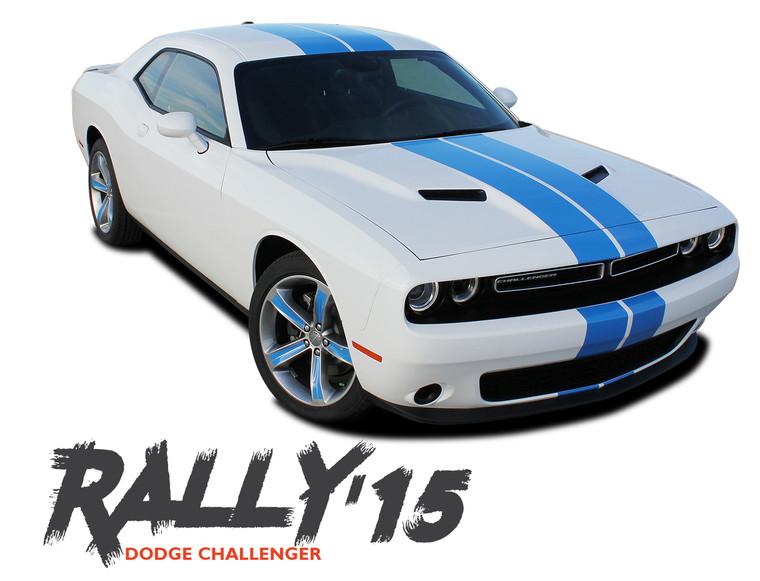 Dodge Challenger RALLY 15 Bumper to Bumper 10 inch Vinyl Graphics Racing Stripes Decals Kit 2015 2016 2017 2018 2019 2020